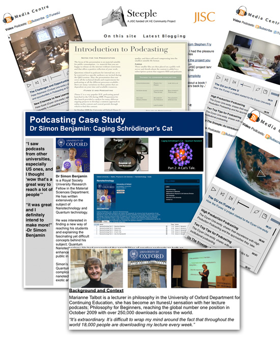 Montage of Podcasting Case Studies